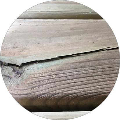 scheuren grenenhout