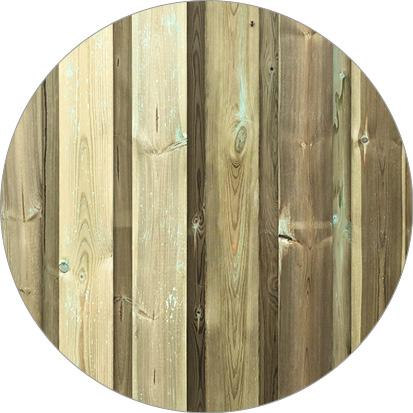 verschil kleur en structuur geïmpregneerd hout