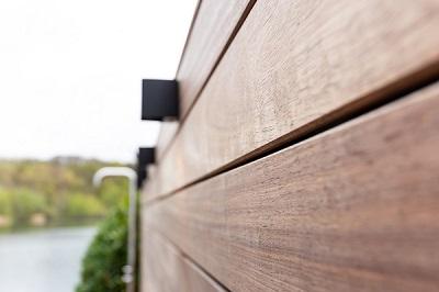 Schutting padouk hout