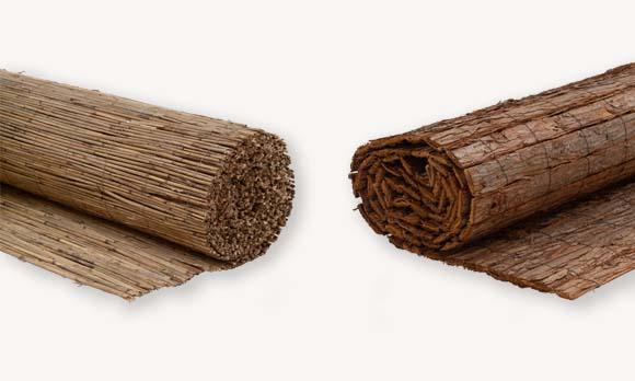 Rietmatten & boomschorsmatten