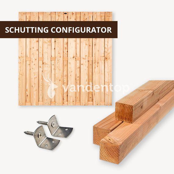 Douglas geschaafd schutting configurator