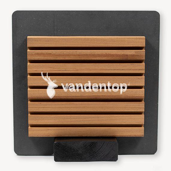 Ayous thermo double profiel | bruin | 3x14 cm | 480 cm