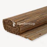 Bamboemat gespleten