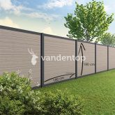 Tuinscherm Velufence light grey