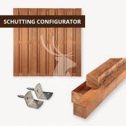 Hardhouten schutting configurator