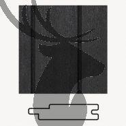 Ayous gevelbekleding channelsiding met nerf| Zwart