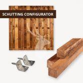 Bruine schutting configurator