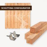 Douglas fijnbezaagd schutting configurator