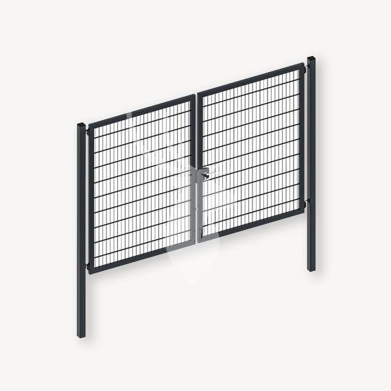 Dubbelstaafmat dubbele poort antraciet