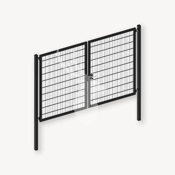 Dubbelstaafmat dubbele poort zwart