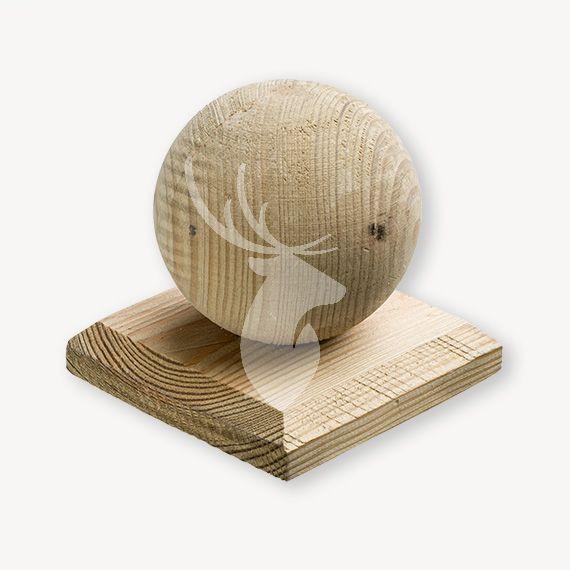 Paalkap met bol hout