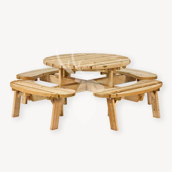 Ronde picknicktafel Barneveld
