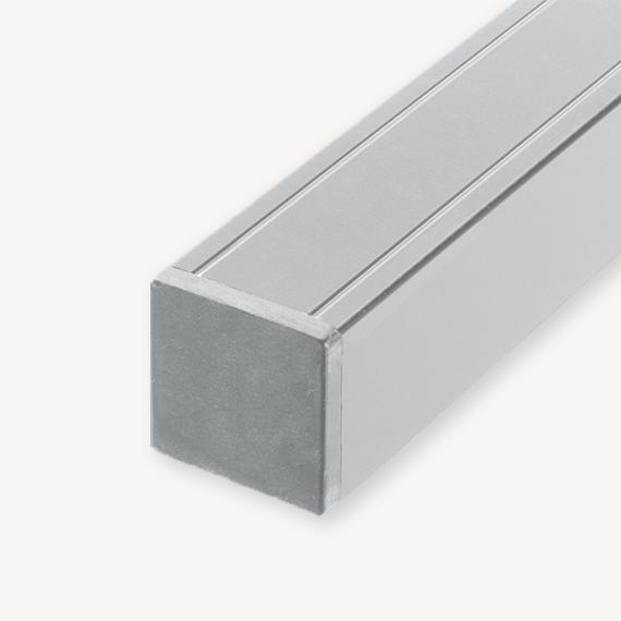 Aluminium paal grijs